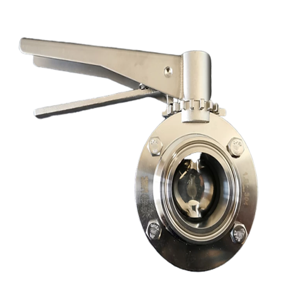 Sanitary Butterfly Valve| SS Handle | Triclamp 1.5""