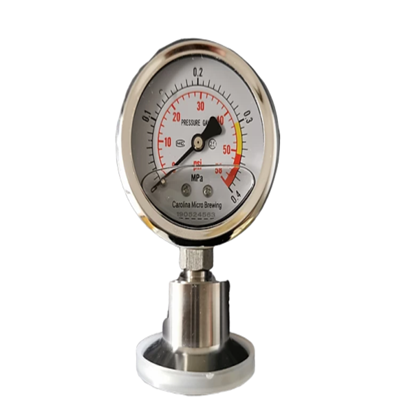 0-58psi Pressure Gauge | Tri Clamp 1.5""